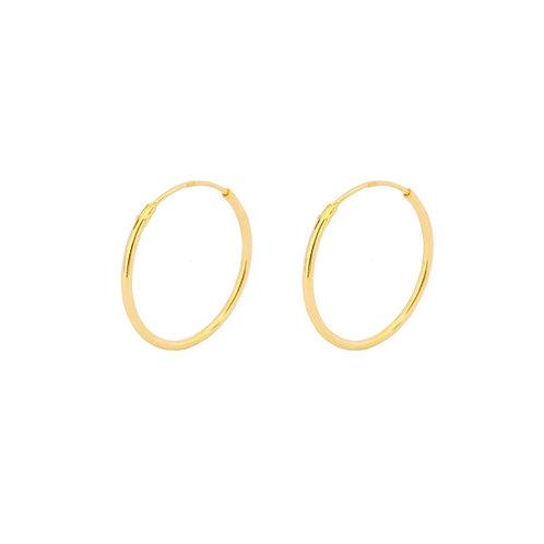20 mm hoop gold