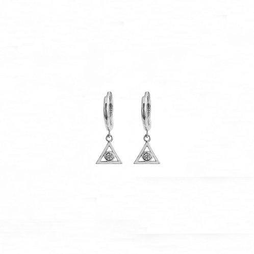 Zirconia triangle silver