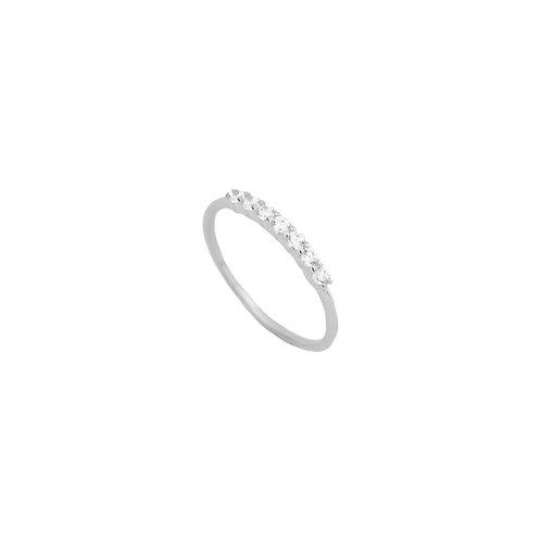 Line zirconia silver