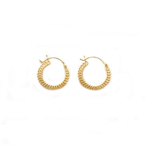 Spiral Hoops gold - 15 mm