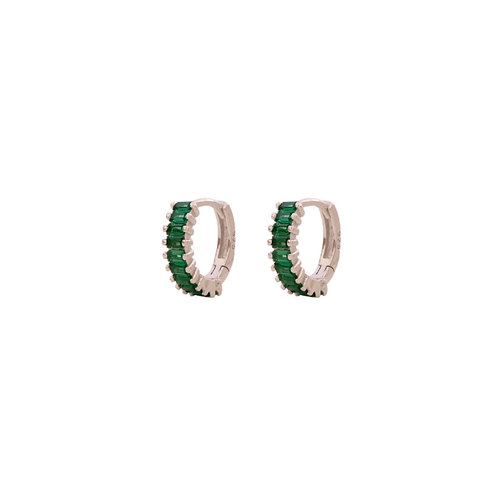 Green zirconia baguette silver