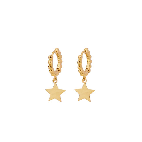 Star dots hoop gold