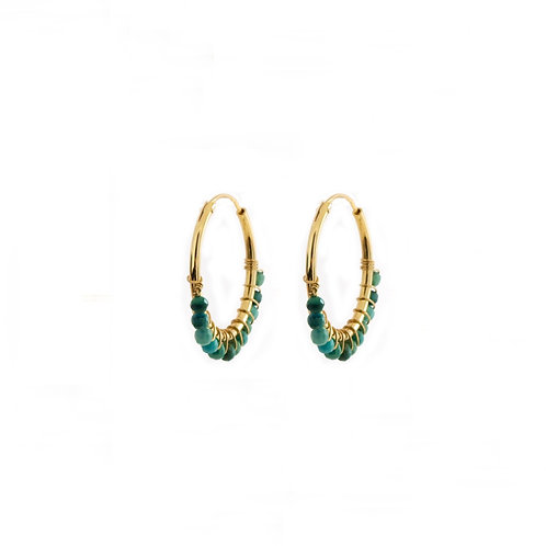 Turquoise hoop gold