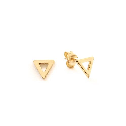 Triangle silhouette gold