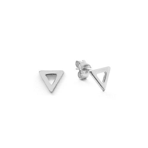 Triangle silhouette silver