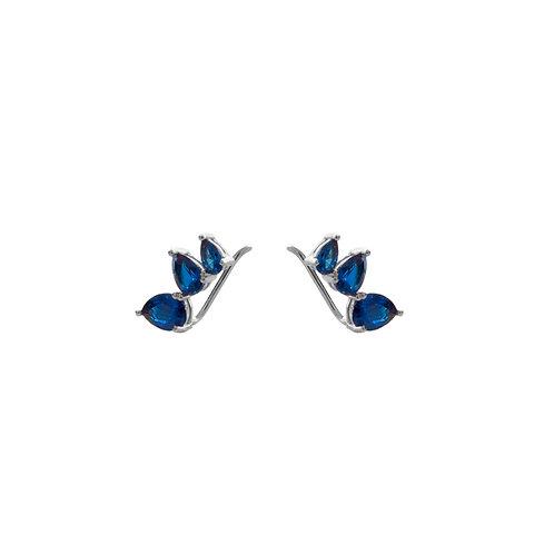 Blue zirconia climber silver