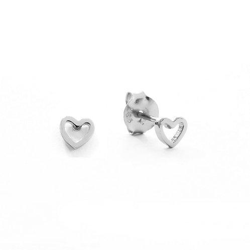 Heart silhouette silver