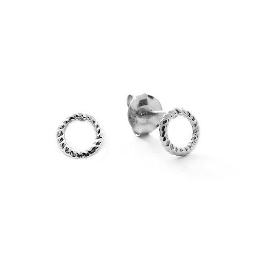 Braided circle silver