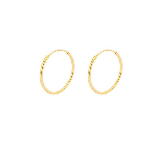 18 mm hoop gold