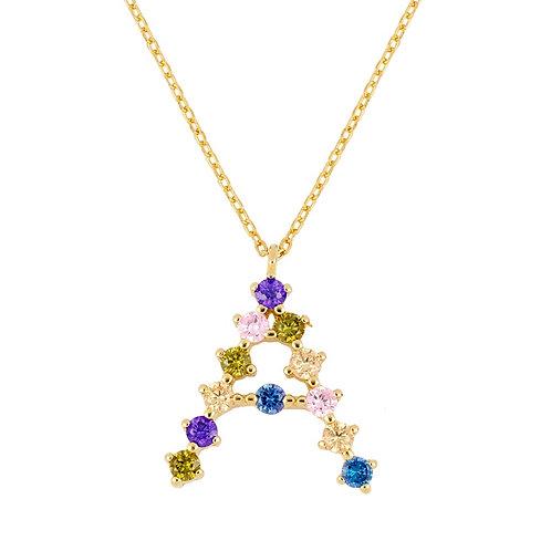 Zirconia initial gold (A-L)