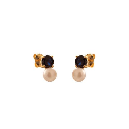 Topaz & pearl gold