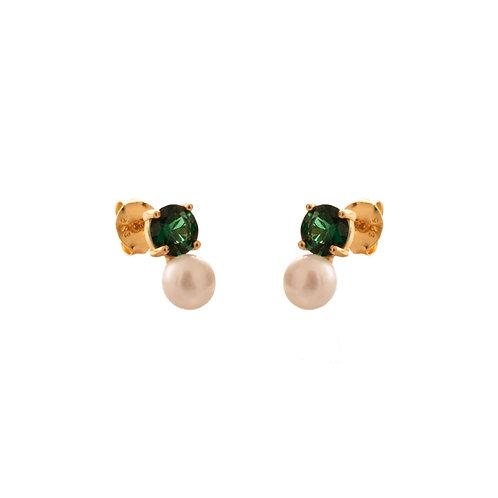 Green onix & pearl gold