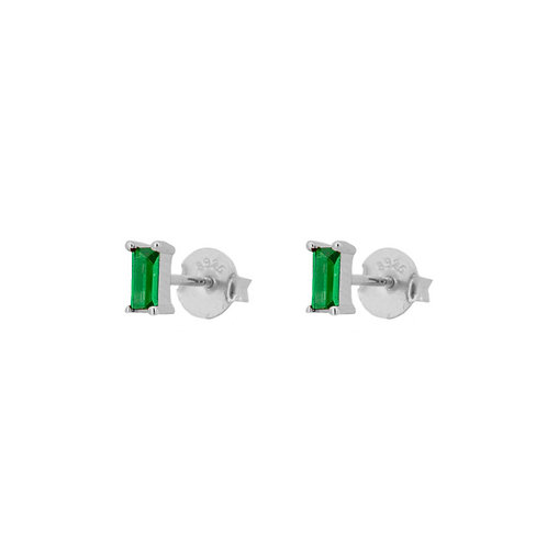 Green zirconia rectangle silver