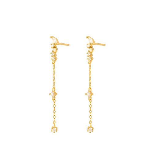 Zirconias chain gold