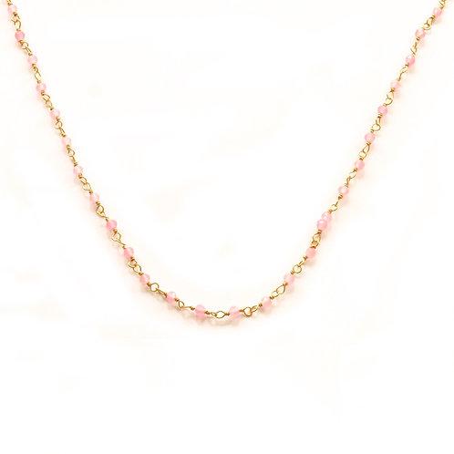 Jade rosa claro gold