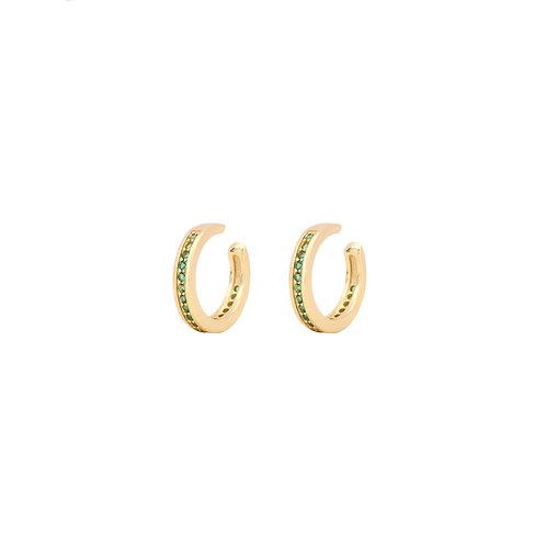 Green zirconia middle ear cuff gold