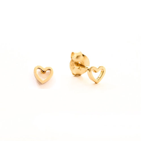 Heart silhouette gold