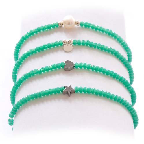 Turquoise green silver