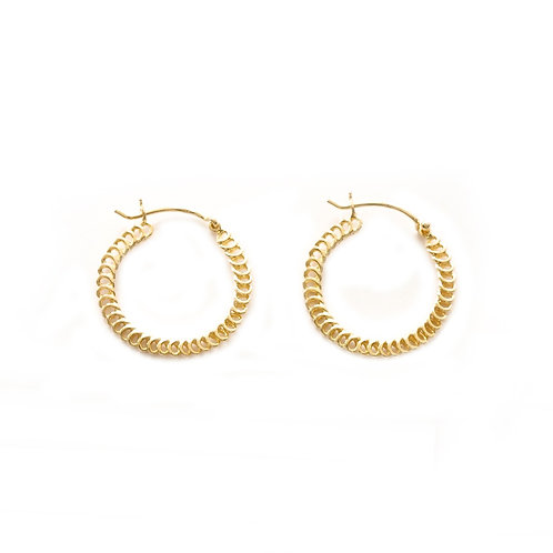 Spiral Hoops gold - 20 mm