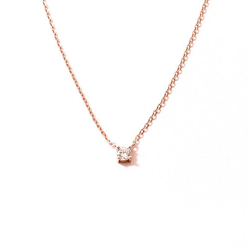 One zirconia rose gold