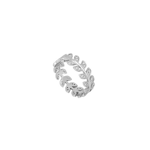 Zirconia small leaves silver