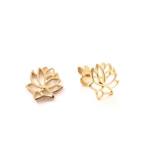 Lotus flower gold