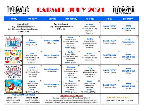Carmel July Calendar