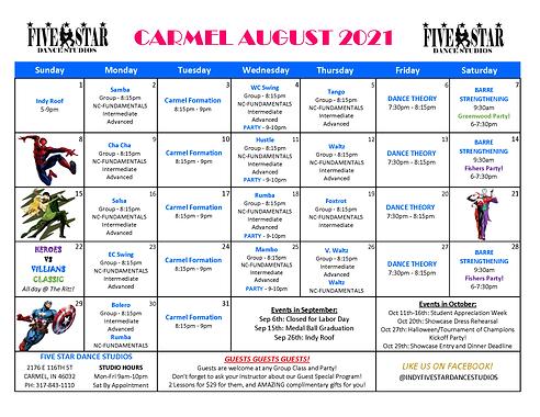 Carmel August Calendar