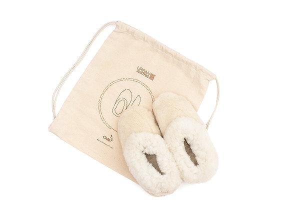 Pantuflas Cordero Blancas M - Talla 36 a 40