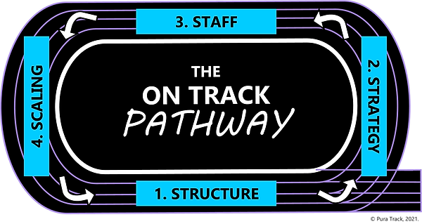 The On Track Pathway (2021) BLUE by Pura Track
