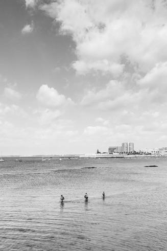 Beach around Cadiz