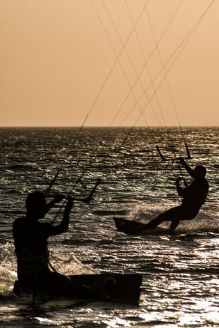 Kitesurfer at Cadiz