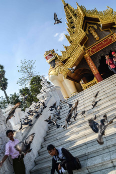 entrance to the greates stupa in Myanmar
