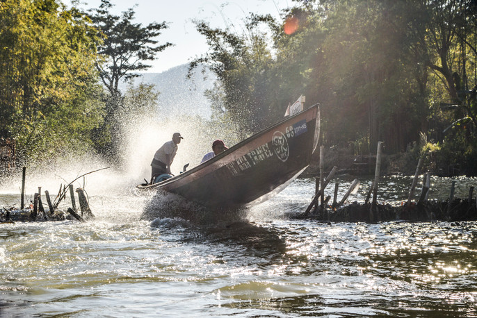 heading to the temples at Inle Lake