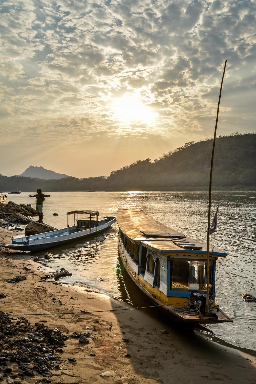 sundown in Luang Prabang Lao