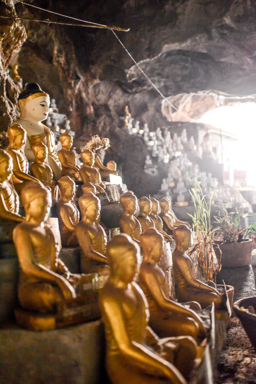 buddha statues in a temple around Nyaung Shwe Inle Lake Myanmar