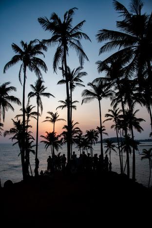 Crouded Coconut Hill in Mirissa