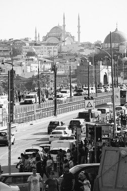 Istanbul Süleymaniye Mosque in the background