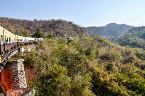 through the hills with the slow train