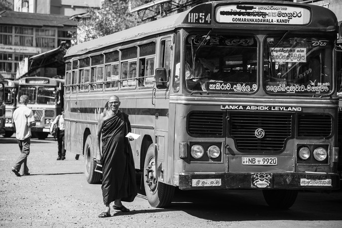 Bus stop in Kandy