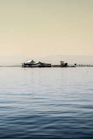 some houses on Inle Lake