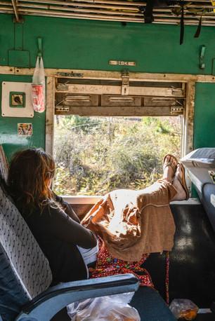 """inside an old Myanmar """"slow train"""""""