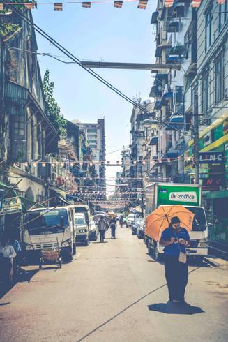 The streets of Yangon