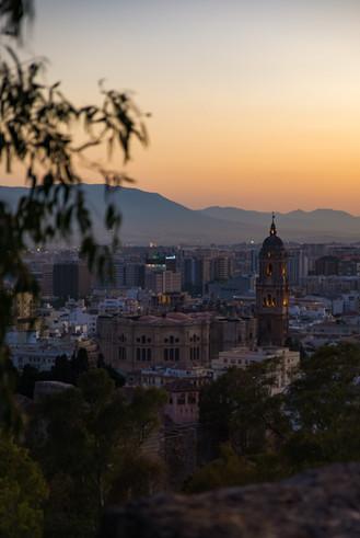 Sundown in Malaga