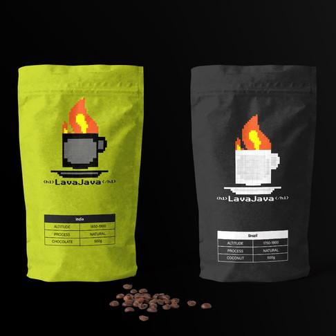Final 3: 3/3 LavaJava Coffee Brand Identity