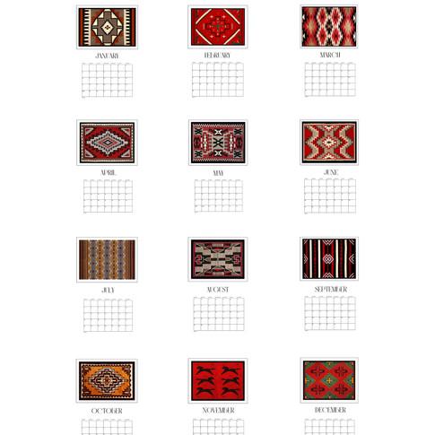 2021 Calendar Native American Designs an