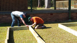 2015 Our Dads building the EcoGarden