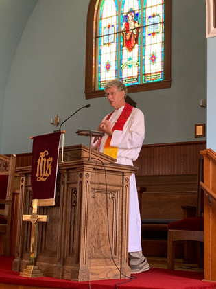 Rev Phillip delivering first sermon for July 5, 2020