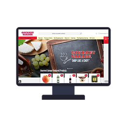 Gourmet garage website screen.png