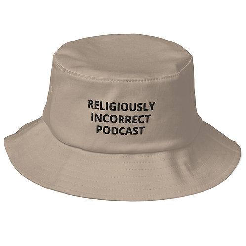Religiously Incorrect Podcast Old School Bucket Khaki
